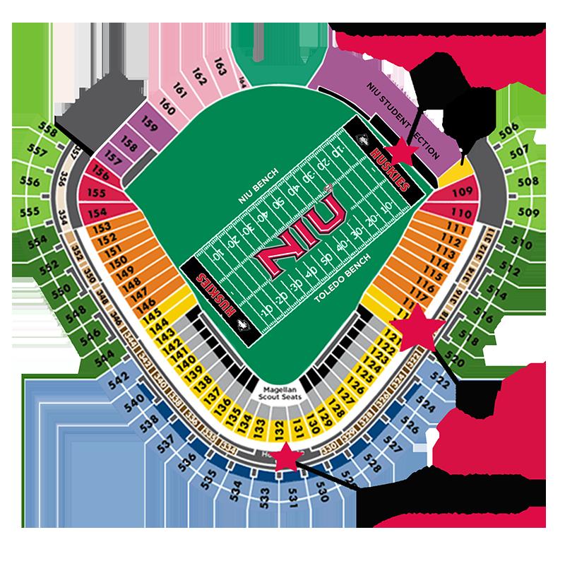 Football Hospitality Huskie Athletic Fund - Us cellular suite map